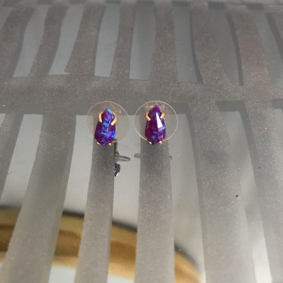 a09b54298 Kendra Scott Jewelry | Jillian Stud Purple Kyocera Opal | Poshmark